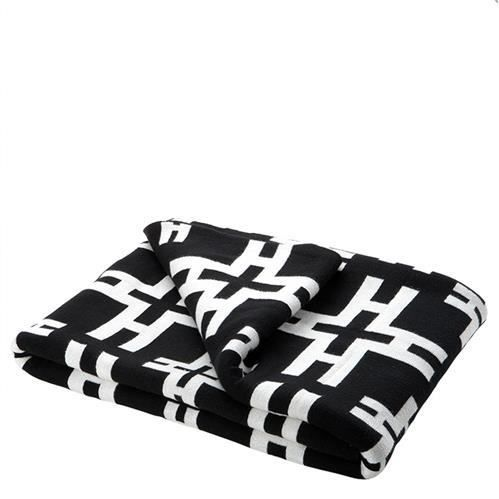 plaid noir et blanc motif achat vente couverture. Black Bedroom Furniture Sets. Home Design Ideas