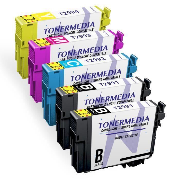 CARTOUCHE IMPRIMANTE TONERMEDIA - 5 cartouches Epson 29XL T2996 compati