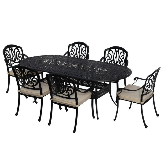 Salon de jardin aluminium - Table rectangulaire Sophia 200 x ...