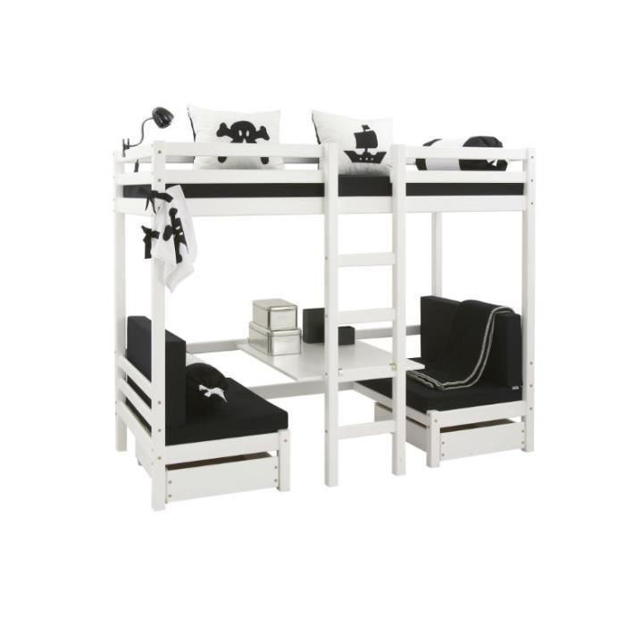Lit superpos multifonctionnel jumbo achat vente lits superposes soldes - Lit superpose soldes ...
