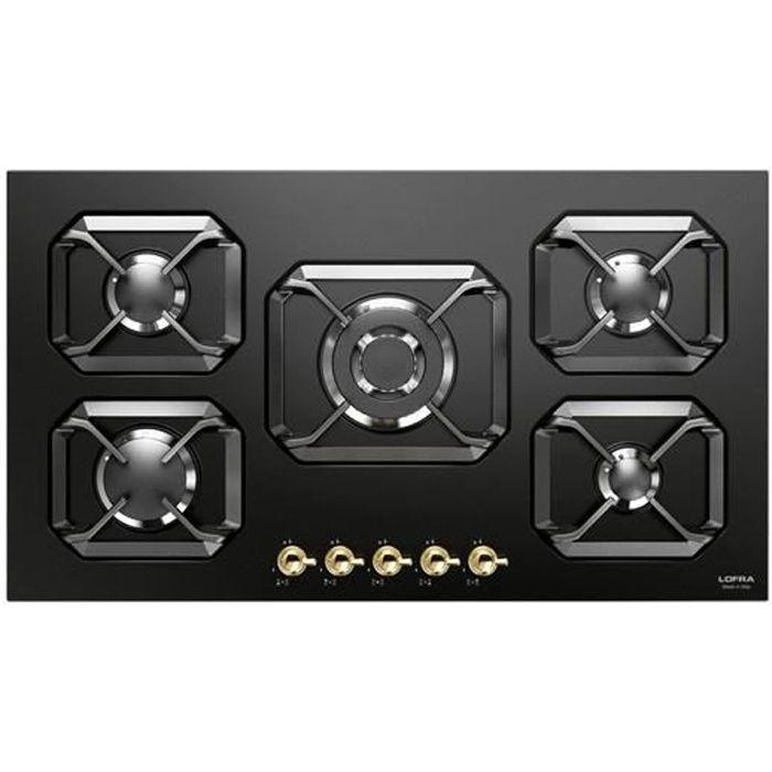 PLAQUE GAZ LOFRA HRNM9A0 noir mat plaque de cuisson valve 90C