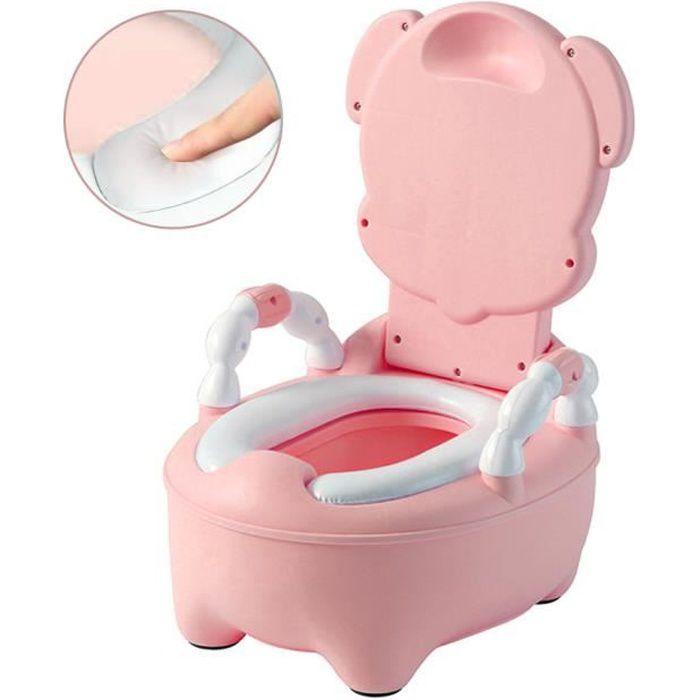 bébé pliable Toilette Enfant Siège Toilette Rose Pot Antidérapant WC Réducteur de Potty de VINTEKY® Chaise Plastique en Nn8Pv0Oymw