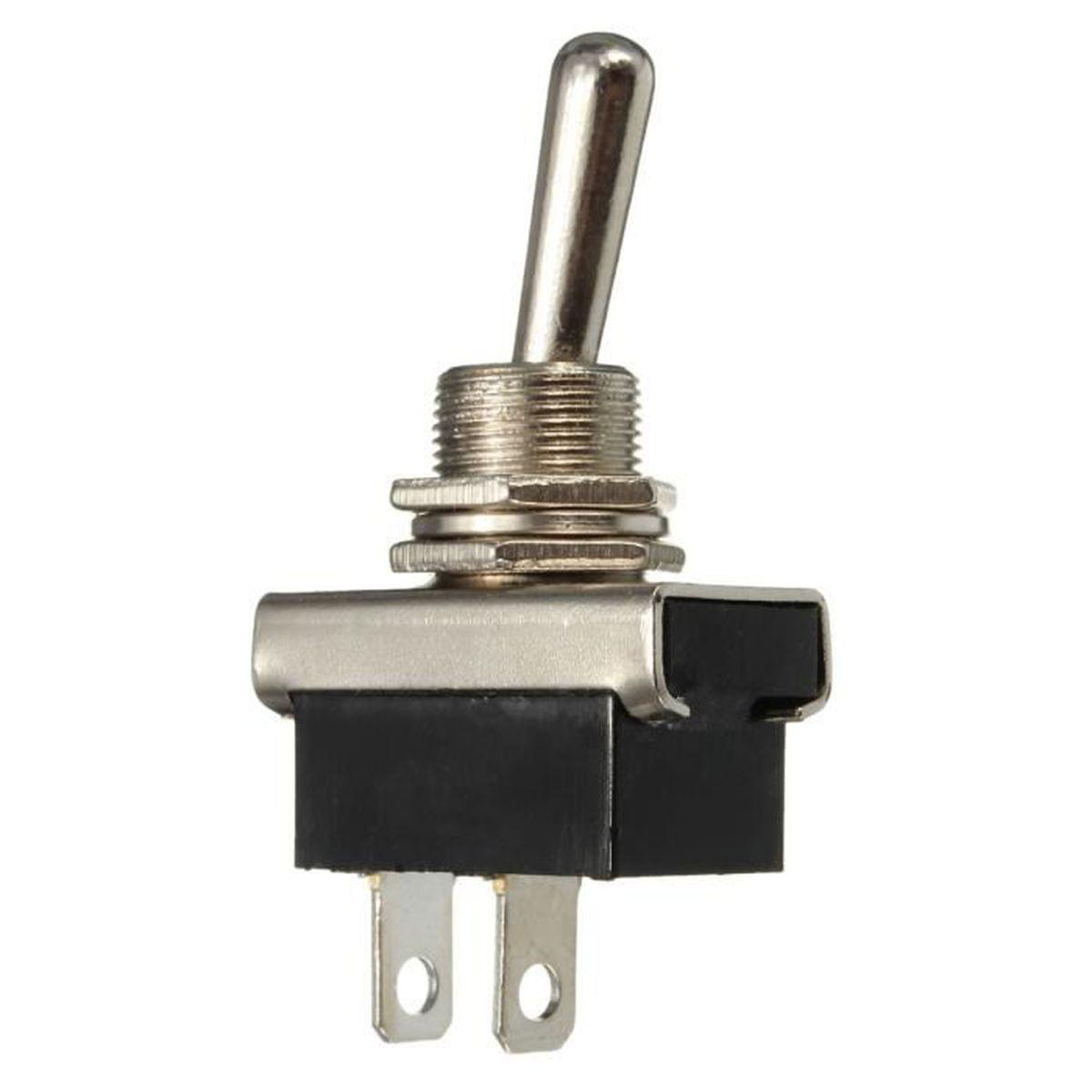 2/vitesses A5/Products Double interrupteur chrome mat satin/é Carr/é Blanc 2/voies 10/A 2/Interrupteur /à bascule en m/étal