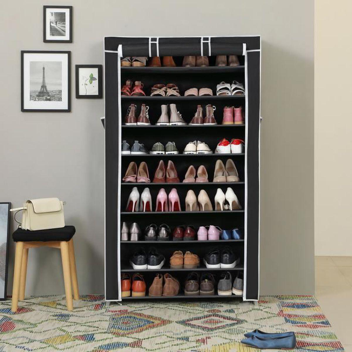 MEUBLE À CHAUSSURES SONGMICS Étagère à Chaussures 40 Paires de chaussu