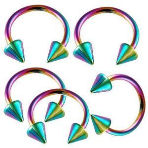 16g 16 gauge 1.2mm 3//8 10mm steel spiral barbells eyebrow twist stud bar AUQR Body Piercing Jewelry 5Pcs