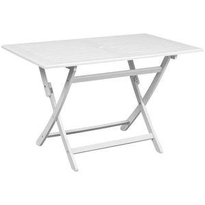TABLE À MANGER SEULE YAJIASHENG Table à d?ner d'extérieur Blanc 120x70x