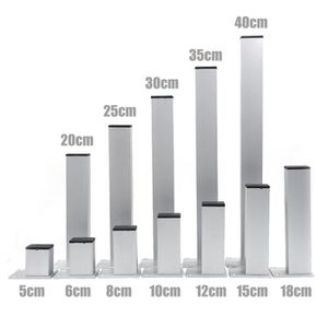 PIED DE MEUBLE 4pcs 40cm Meubles Pieds Cabinet Pieds En Aluminium