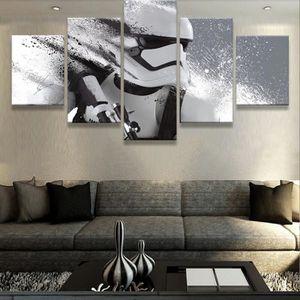 TABLEAU - TOILE Toiles peintures imprimées 5 pièces Star Wars phot