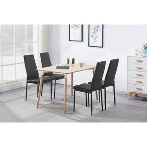 TABLE À MANGER COMPLÈTE Ensemble Table à Manger Effet Chêne + 4 Chaises en