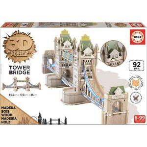 PUZZLE EDUCA Puzzle 3D Monument - Puzzle Tower Bridge