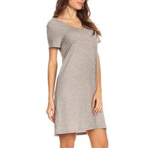 T-SHIRT Robe Tee-shirt à manches longues pour femmes INYMX