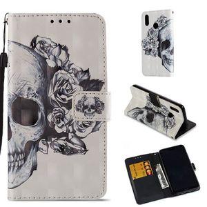HOUSSE - ÉTUI Housse Etui Pour Huawei P20 Lite Fleur Squelette H