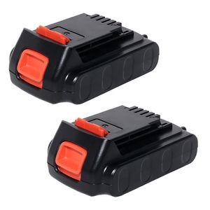 BATTERIE MACHINE OUTIL 2x Batterie 18V, 2Ah, Li-Ion pour Black & Decker A