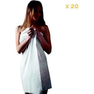 SERVIETTES DE BAIN Lot de 20 draps de bain en spunlace 100 x 150 cm j