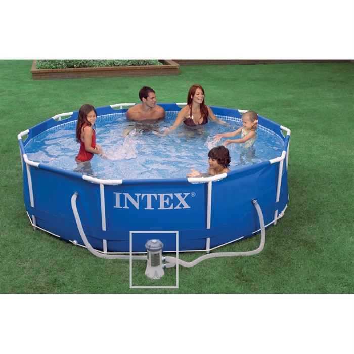 Piscine intex tubulaire rectangulaire for Auchan piscine tubulaire