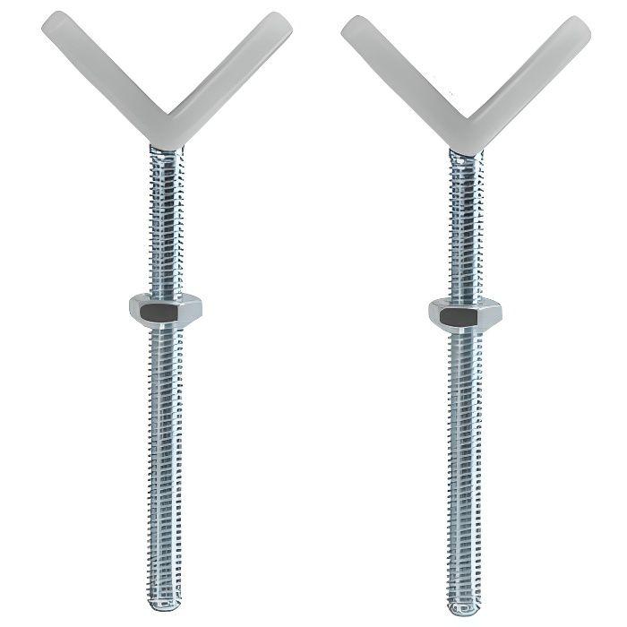 HAUCk Fixation Y pour rambarde d'escalier à forme ronde ou spécifique