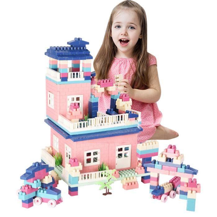 Jeu de Construction Modelisme Scène en Plastique Blocs de Construction Jouet Puzzle Assemblage Education pour Enfant Bébé -364 Blocs