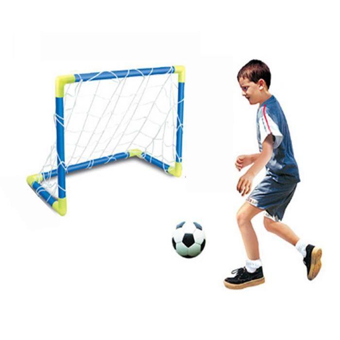Mini Football Football Ball But Post Net Set + Pompe Enfants Sport Intérieur Intérieur Jeux de Plein Air Jouets