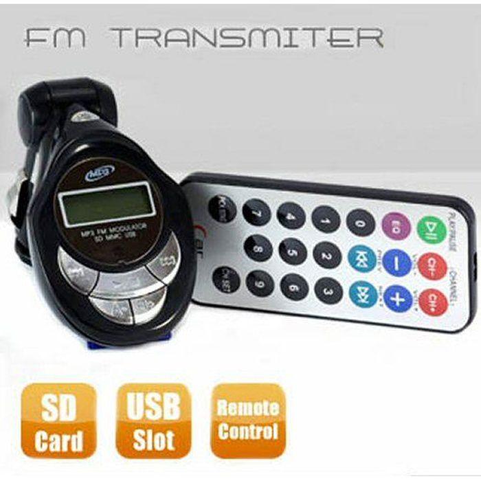 MP3 de voiture Transmetteur FM avec télécommande