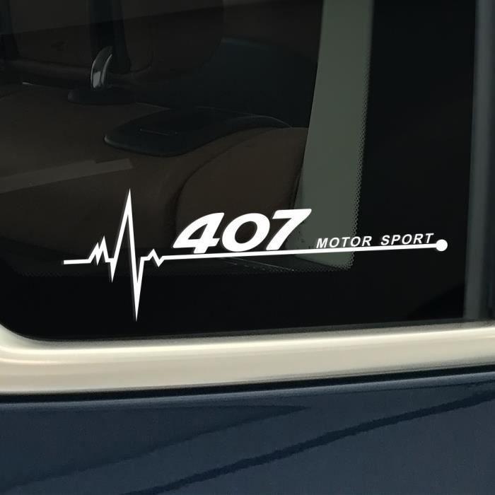For 407 Black -Autocollant de fenêtre latérale réfléchissant en PVC, décor de voiture, accessoires pour Peugeot 206 307 308 407 207