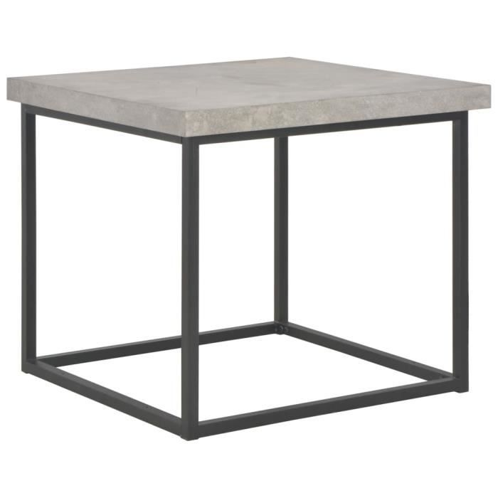 Table basse style contemporain pour salon - scandinave Meuble de Rangement 55 x 55 x 53 cm Aspect de béton
