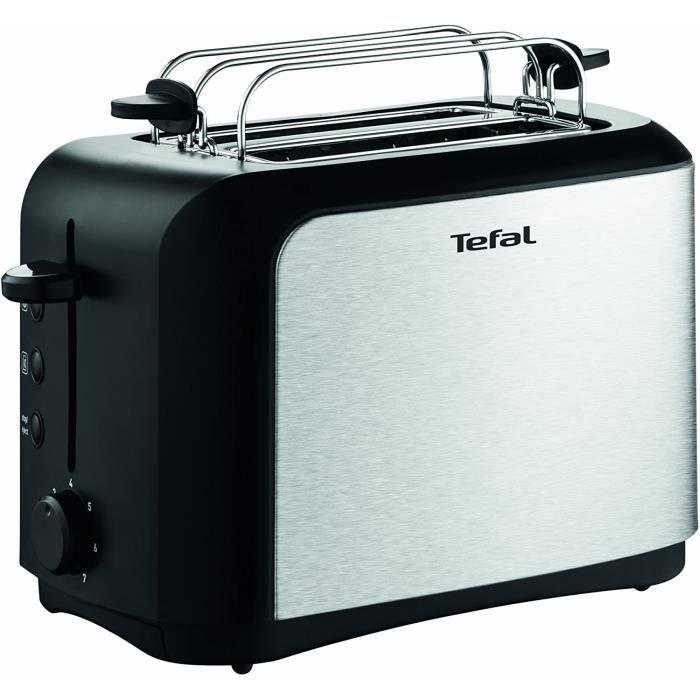 Tefal - TT3565 - Grille-pains, 850 watts, Noir/Acier inoxydable
