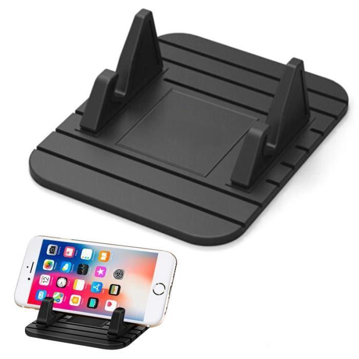 Supports voiture,Voiture GPS Silicone anti dérapant tapis support de bureau support pour téléphone Mobile support de - Type Black