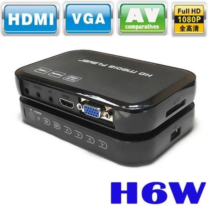 Portable 1080p Mini Full HD H6W Media Center Lecteur multimédia Prise en charge USB Host ALes0109-16E23205