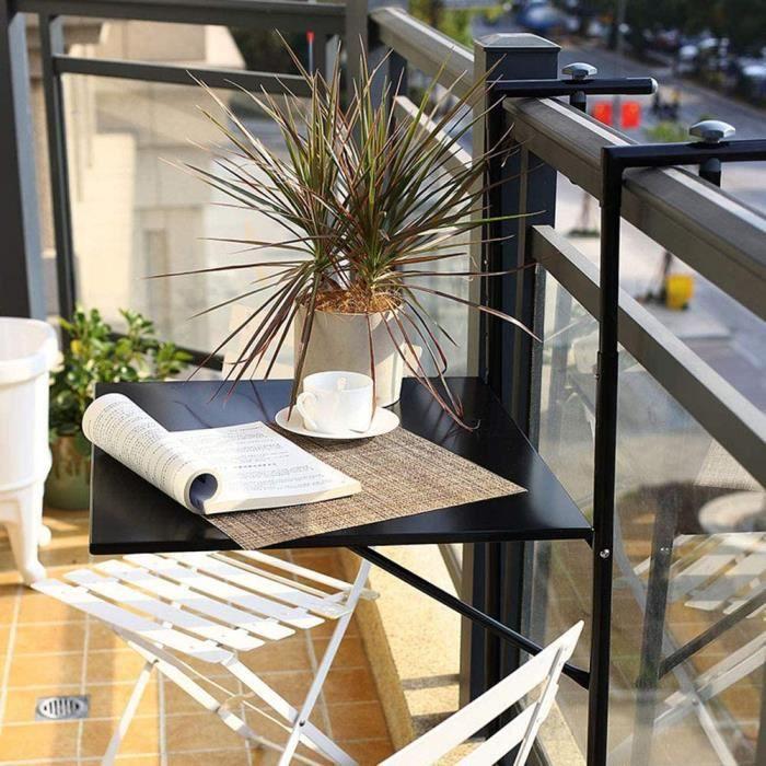 Table basse de jardin Table Rabattable en Fer Forg&eacute,Table Murale Suspendue Balcon,Table Basse D&eacutecontract&eacutee,T33