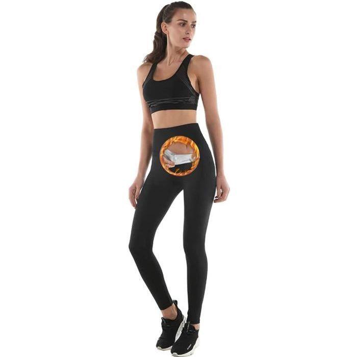 NHEIMA Legging Anti Cellulite, Pantalon de Sudation, Legging Femmes Taille Haute avec Nanotechnologie pour Tonifier des Cuisses et O