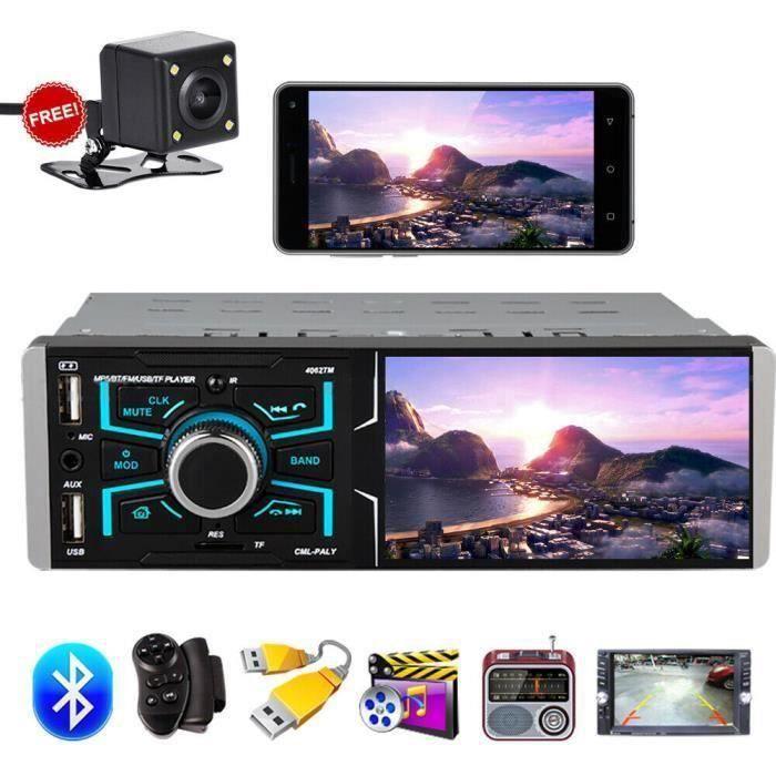 Autoradio de voiture stéréo 4.1 inch écran tactile multimédia de voiture MP5 - FM - TF - USB + caméra de recul