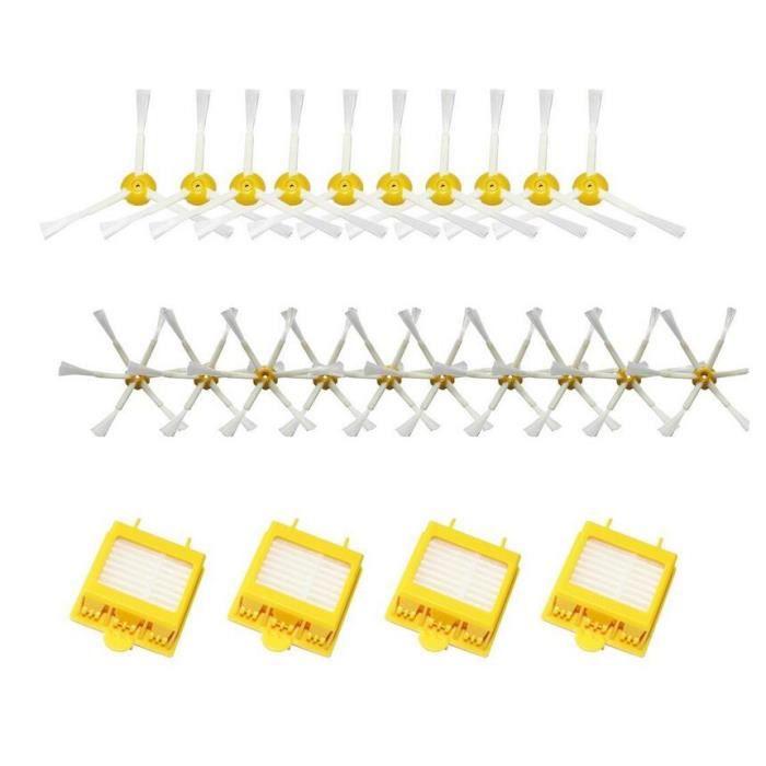 Brosse latérale à 6 branches et brosse latérale à 3 branches pour iRobot Roomba 500 600 700 Series 550 560 630 650 760 770 780 24PCS