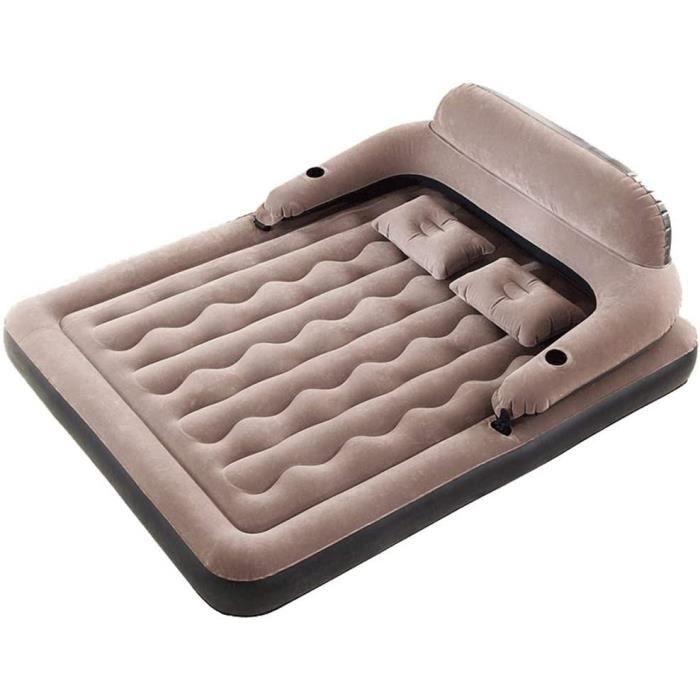 LHn-Cn Matelas Gonflable électrique Pillow 2-pers, Lit d'Appoint, Confortable, Durable et Portable, Maison, Voyages, Camping.243