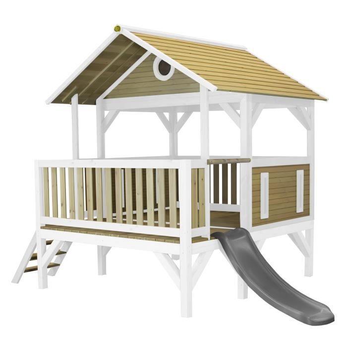 AXI Meeko Playhouse Brown/white - Grey Slide