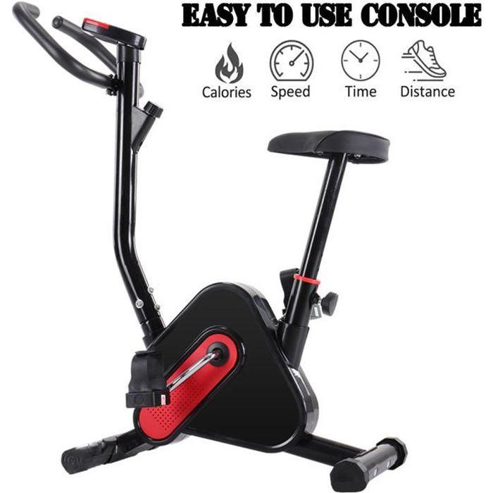 Vélo d'Appartement Pliable Résistance Magnétique & Siège Large Confortable