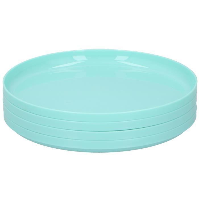 Cuisine Elegance assiette 18,5 cm polypropylène bleu 4 pièces