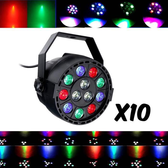 Jeux de lumières DJ Pack LIGHT 10 PAR MINI à LEDs RGBW 12X3W DMX + étrier de fixation