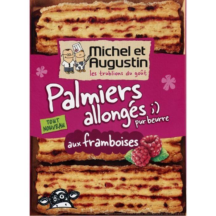 Biscuits palmiers framboises 120g Michel et Augustin