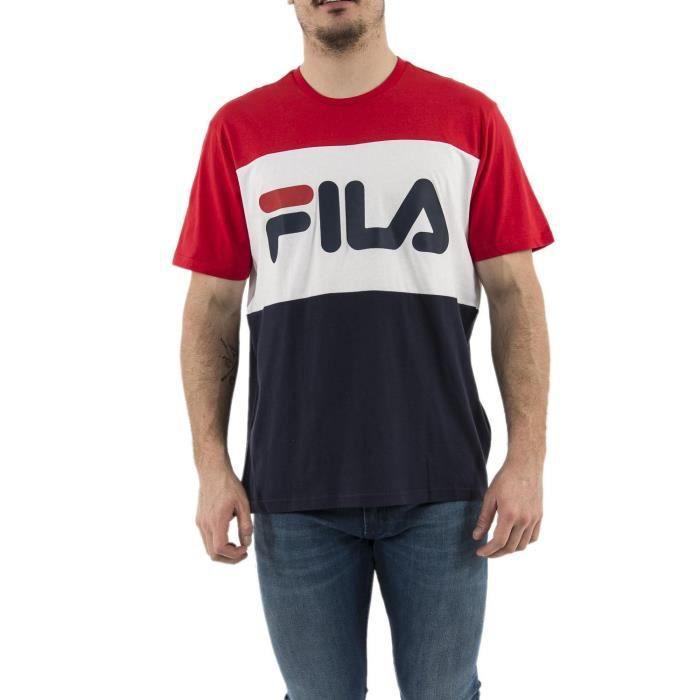 FILA T-Shirt Rouge/Blanc/Marine Homme