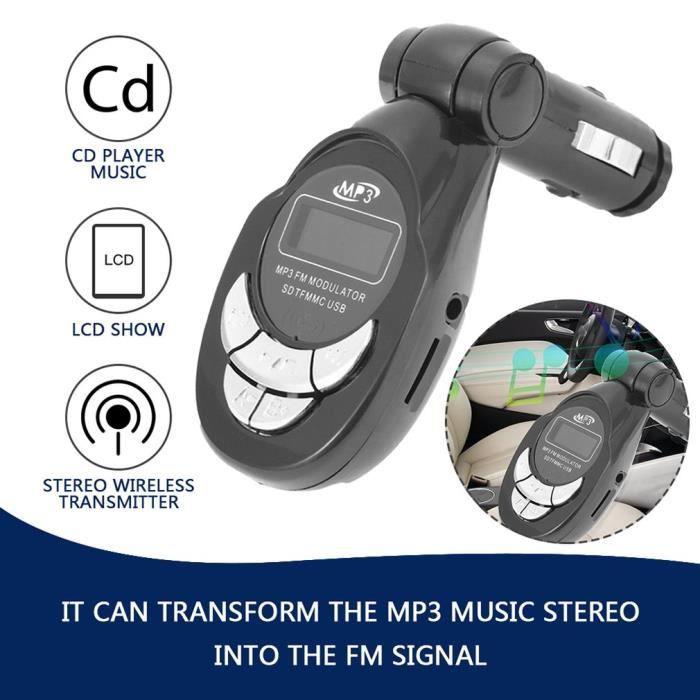 4 en 1 Voiture lecteur MP3 transmetteur FM Sans fil Modulateur audio USB CD MMC Avec télécommande