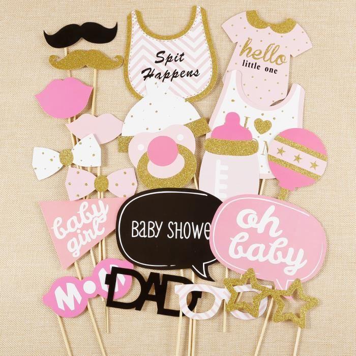 20x Photo Booth Accessoire De Fete Pour Fille Bebe Bapteme Oh Baby Girl Baby Shower