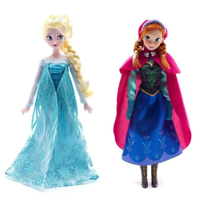 poup e reine des neiges anna et elsa barbie frozen achat vente poup e cdiscount. Black Bedroom Furniture Sets. Home Design Ideas