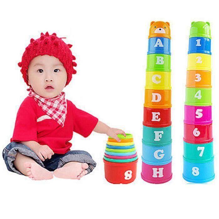 Plastique Empilable Tasses Arc Multicolore Enfant Jouet Educatif Cadeau