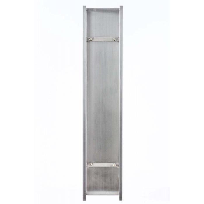 CHAISE Range-bûches étagère en acier inoxydable bois de c