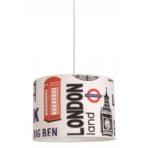 Suspension cylindre en coton imprim london achat vente suspension london - Grand magasin londres pas cher ...