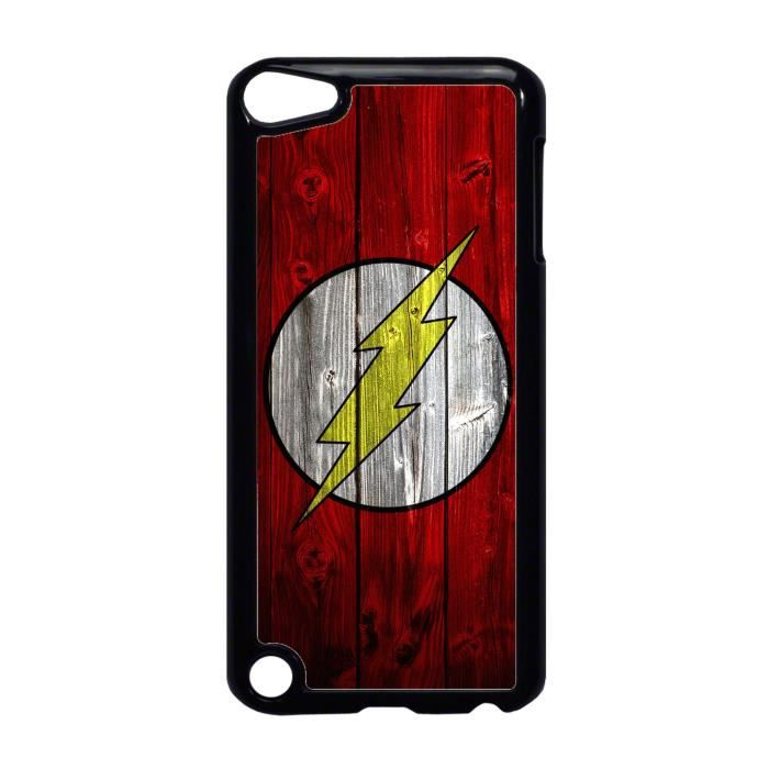 coque ipod touch 5 logo flash super hero bois ref 700. Black Bedroom Furniture Sets. Home Design Ideas