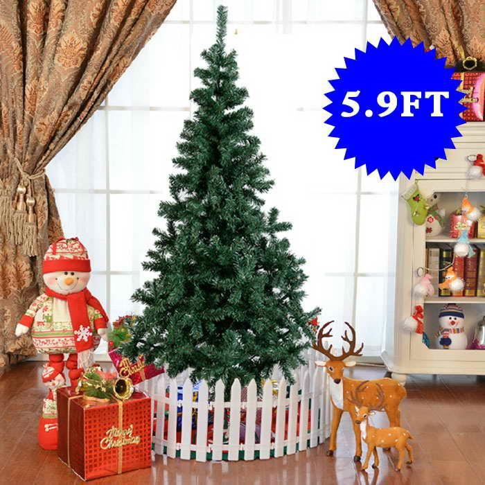 sapin de no l artificiel sapin d coratif 180cm 580 branches pied m tal vert achat vente. Black Bedroom Furniture Sets. Home Design Ideas