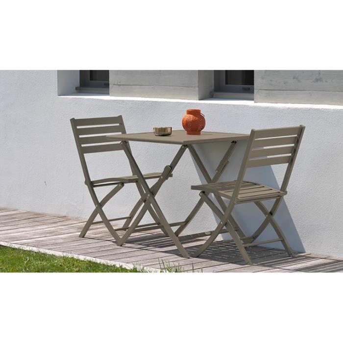 Salon jardin pliant beige 2 places Marius - Achat / Vente ...