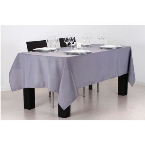nappe antitache ronde 140x240cm gris clair achat vente nappe de table cdiscount. Black Bedroom Furniture Sets. Home Design Ideas