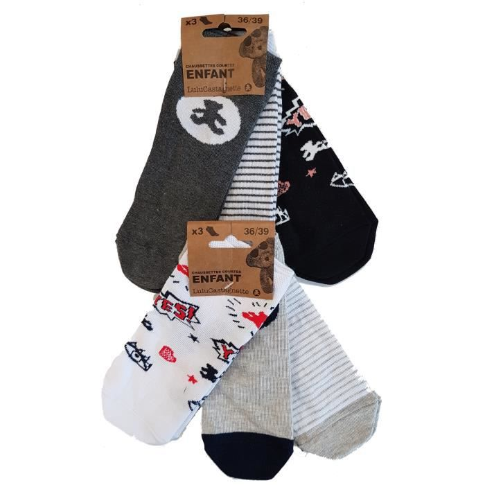 good out x fashion styles fast delivery Chaussettes Lulu Castagnette Pack de 6 socquettes - Assotiments modèles  photos selon arrivages- fantaisies en coton